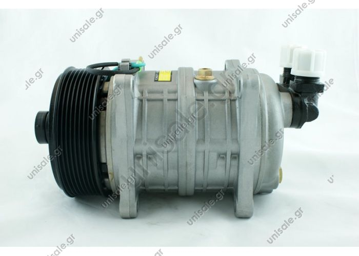 TM16 8PK ZEXEL VALEO COMPRESSOR 12V Description  TM16 HD OR Vertical 12V Ø119mm Poly-V 8