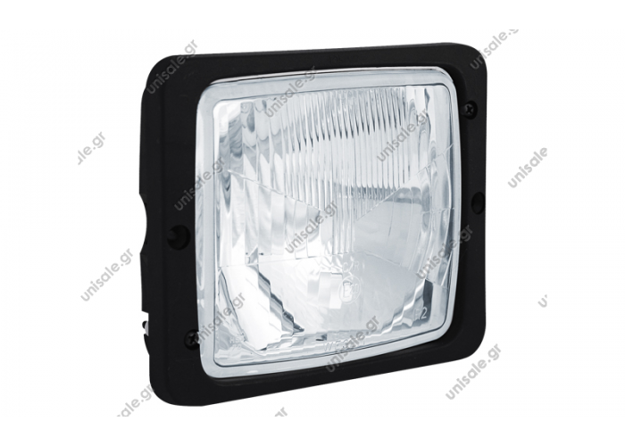 RE.22788 WESEM ΦΑΝΟΣ ΕΜΠΡΟΣΘΙΟΣ LKR6 Headlamps type square, designed for tractors and agriculture machinery      Square Headlamp - R2 (lights: passing, driving)   Dimensions: 172 x 142  Homologation: E20  Fit bulbs type: R2 12V 45/40W or R2 24V 55/50W