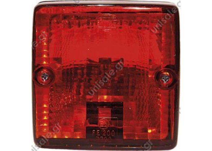 ΠΛΑΣΤΙΚΑ P8080-95 ΦΑΝΟΣ ΘΥΕΛΛΗΣ REF. NO. 8080/95.06 Red, with rubber base  P8080-95.06 Red lens