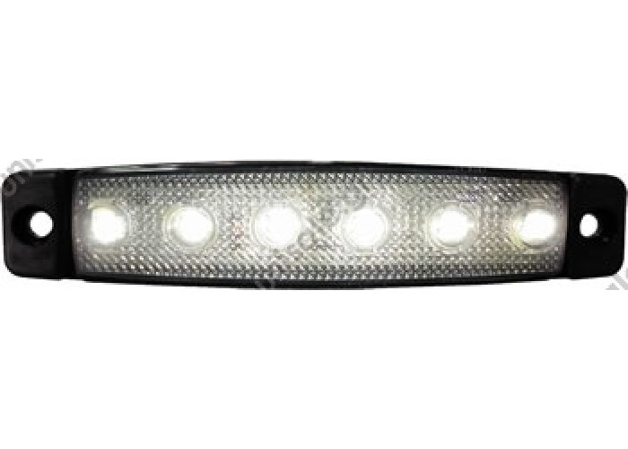 SANEL SBB24W6 LED ΠΛΕΥΡΙΚΟΣ ΦΑΝΟΣ ΟΓΚΟΥ 12V Ή 24V 	 ΦΑΝΟΣ ΟΓΚΟΥ LED ΛΕΥΚΟΣ 560-0,07 24-12V   SBB Series Step, Corridor & Side Maker LED Lightings (Slim Design)