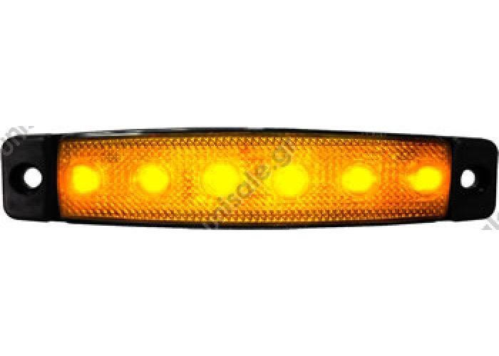 SANEL SBB12W6 LED ΠΛΕΥΡΙΚΟΣ ΦΑΝΟΣ ΟΓΚΟΥ 12V Ή 24V 	 ΦΑΝΟΣ ΟΓΚΟΥ LED 560-0.05 24-12V ΚΙΤΡΙΝΟΣ    SBB Series Step, Corridor & Side Maker LED Lightings (Slim Design)
