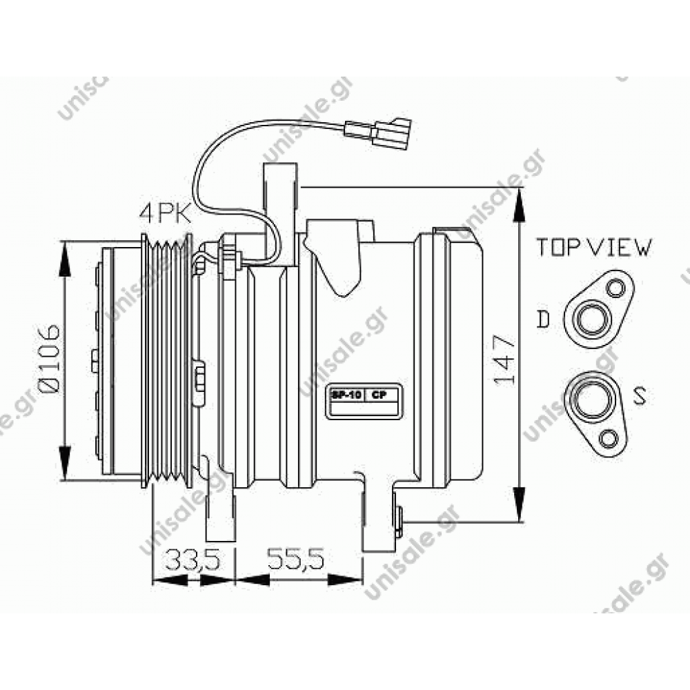 NRF 32436, Compressor, air conditioning CHEVROLET MATIZ 2005-... DAEWOO  MATIZ 1998-.