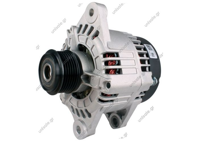 ALFA ROMEO 156 100A Α43430 Replacing 63321859 Lucas LRA2186 LRA1887 Hella CA1698 CA1558 Alfa Romeo Fiat Various Models    Voltage / Power:	12V 120 Amp Pulley / Drive:	Clutch Pulley Pv6 x 65.5 Product Type:	Alternator