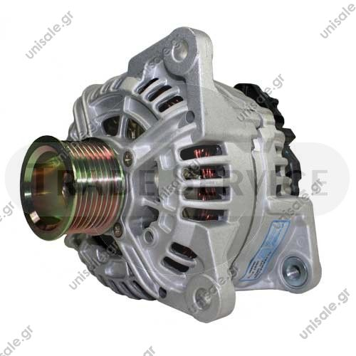 860806 Prestolite alternator 24V 110A (New) BOSCH 0 124 555 006 (0124555006), Alternator  Prestolite DAF LF45 DAF LF55 2001 onwards 24v 110A Alternator - 860806