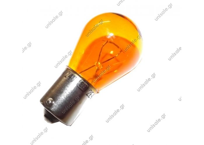 Lamp PY21W 24V21W yellow For Evobus  Pack = 10 pieces ,manufacturer Spahn  Ref.:. N000000000065 , 8GA006841241 , 9507