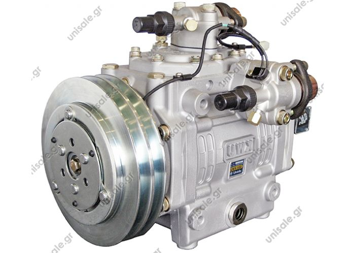 40435073 UWX550 24V 2 Grooves  UWX550 UNICLA 14 CYLINDER SWASHPLATE TECHNOLOGY  UWX550 BUS COMPRESSOR - 14 CYLINDER SWASHPLATE - R134A REFRIGERANT - 26 KILOWATT OUTPUT - MULTI DIRECT MOUNT TYPE - WEIGHS ONLY 24 KG