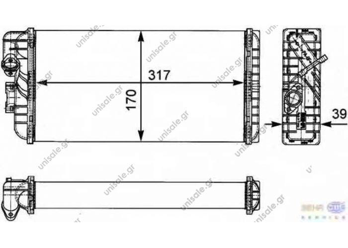 MERCEDES-BENZ 002 835 24 01 Heat Exchanger  MERCEDES BENZ LK/LN2, T2/LN1 8FH 351 312-431/9200774 BEHR T...9200774 BEHR T...9237871495 BEHR H...9200774 VAN WEZEL30006188 AKS DASIS139450N MERCED...002 835 24 01 HELLA8FH 351 312-431