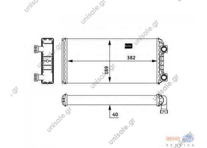 Heat exchanger replaces Hella: 8FH 351 312-591  Art. No. 2.76045 VOLVO FM, VN, 8FH 351 312-591/9201262:VOLVO FM9/FM12/FH12 truck   VOLVO   85104947 NRF 54244 FH 12 FM 12 FM 9 VOLVO Truck Heat Exchanger, Interior Heating 20520114,85104947