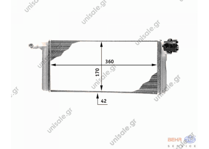 MERCEDES BENZ NG, SK 8FH 351 312-311/9200729 DT 4.62730 (462730) Heat Exchanger, interior heating     BEHR HELLA SERVICE 8FH 351 312-311 (8FH351312311), Heat Exchanger, interior heating  MERCEDES 002 835 08 01 (0028350801), Heat Exchanger,