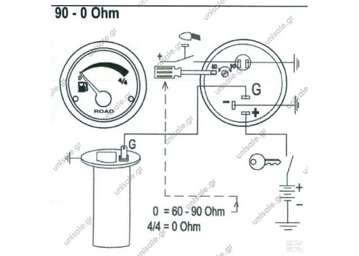 i00009 fuel gauge 12v 52mm i00009 fuel gauge 12v 52mm
