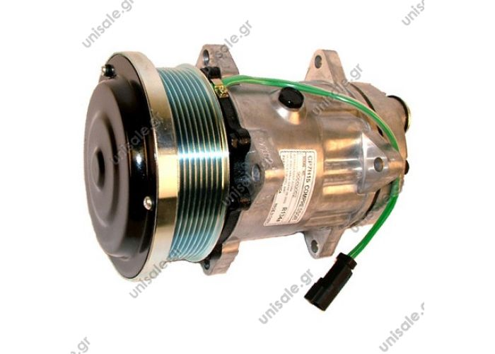 40405183  COMPRESSOR, NEW, SANDEN 7H15, CATERPILLAR, U4737 12V 8PV 133MM, Serie 900  Compressor (1419676)    OE: 1419676 - 1515270 - 4737  Other Applications ApplicationYear Serie 900 Various modelsCATERPILLAR SANDEN  Caterpiller 141-9676, Sanden 4737