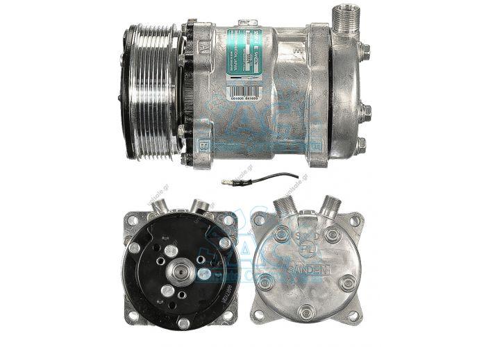 Sanden Universal Compressor # 6629 4514 OR Vertical 12V Poly-V 8 Compressor Sanden Fix R134a SD5H14