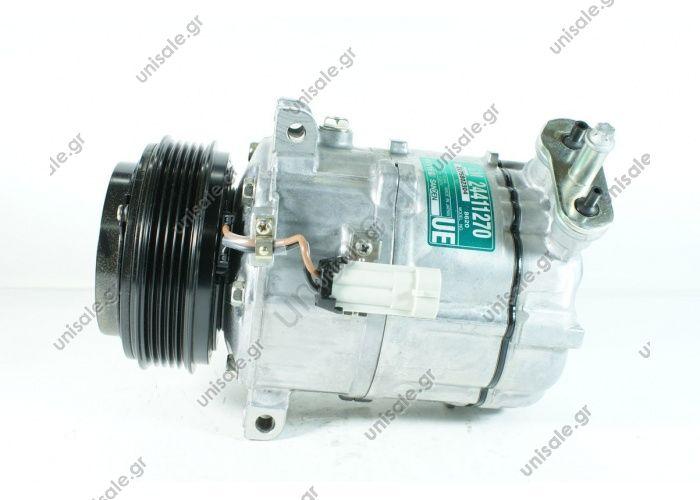 58516 (57516)  ΣΥΜΠΙΕΣΤΗΣ SANDEN   PXV16    COMPRESSOR SANDEN FIX R134A   OPEL - VECTRA C (1.8) SIGNUM (1.8) Compressor - SANDEN MODEL - PXV16  SAAB 9-3 1.8 2.0 2.2 T 16v 88784   OE codes: 6854007   OPEL : 22861236