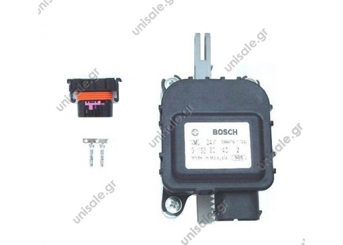 HISP4230444 Hispacold Flap Motor, Bosch (0 132 801 143)    _ Article features	  Name	Value Bemerkung/Remark	Vergl.-Nr./Ref.: 4230444   Application: Control of the air flap (external-internal circulation) in air conditioners HISPACOLD, SCANIA IRIZAR