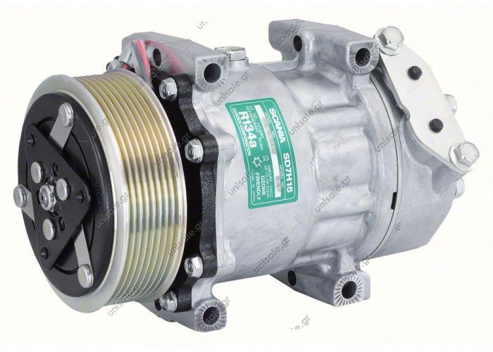 40450078 Compressor Sanden Fix R134a SD7H15   SCANIA 114  - 124 OE: 10575186 - 1376968 - 1376998 - 1412263 - 1888034 - 575186 - 6024 - 7980 - 8067  Other Applications ApplicationYear 114 - 12405 96-> 14411 95-> 16405 00-> Serie P/G/R/T03 04->
