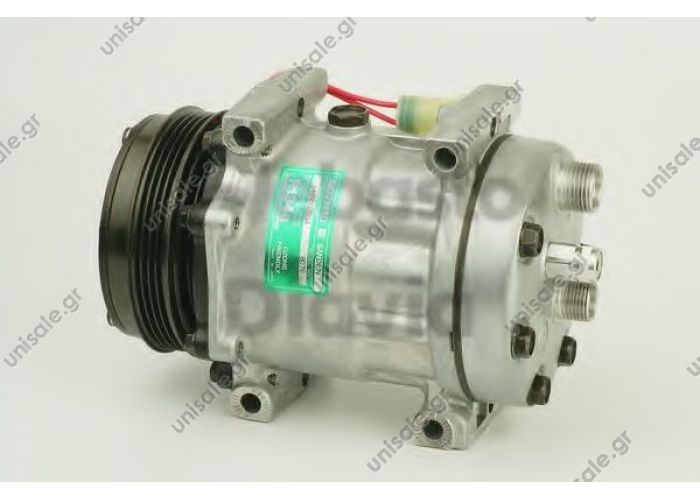 58743 (57743) LAND ROVER DEFENDER MODEL-(2.5 TD5) 112MM PK - 4 KOMPRESOR- SANDEN 7H15   ADDITIONAL INFORMATION  Brand	LAND ROVER OE No.	JPB101200 Manufacturer	SANDEN Voltage	12 V Pulley wheel diameter [mm]	112 Number of grooves	4 Oil type	PAG 100