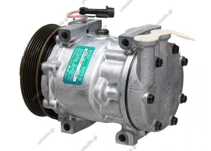 40405089 Συμπιεστής A-C (Κομπρέσορας)    Alfa Romeo ALFA ROMEO 166 2.0 TS SD 7V16 compressor / 1157   Compressor Sanden variable SD7V16   OEM 60653652/60814396/60629417, flanges Ver
