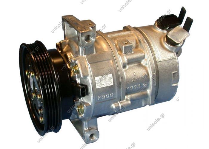 40440182 Compressor Denso complete    FIAT Doblò 1.6 16v - Natural Power  FIAT : 46809223 FIAT DOBLO 1.2 Depuis 12.00 FIAT MAREA 1.6 Depuis 10.01 FIAT STILO 1.6 Depuis 10.2001 DIAM N GORTENSIONTYPE 120_PV4125SL12C-T