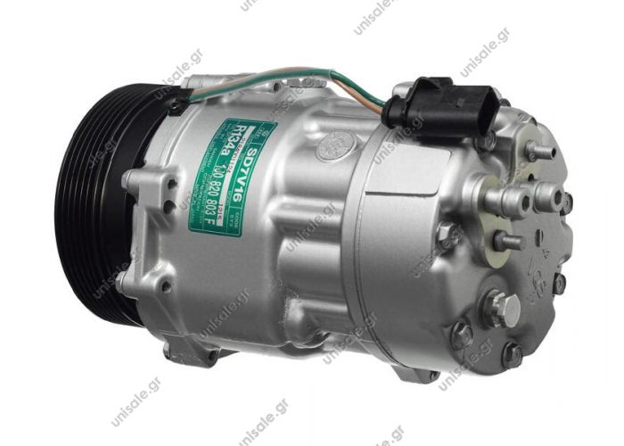 40430264 VW Transporter V serie 2.0 - 3.2 / 1.9 tdi - 2.5 tdi  Compressor Sanden  SD7V16    OE: 1076012 - 1080 - 1111419 - 1206 - 1215 - 1221 - 1226 - 1231 - 1233 - 1245 - 1278 - 1283 - 1J00820803A - 1J00820805 - 1J0820803 - 1J0820803A - 1J0820803B