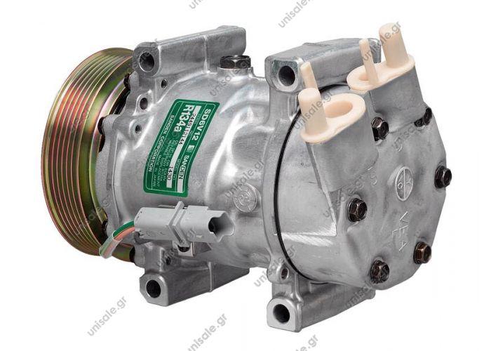 40405125CP Compressor Sanden variable SD6V12     CITROEN Berlingo 1.1 - 1.4 - 1.6 16v OE: 1430 - 1438 - 1449 - 1907 - 1926 - 6453GZ - 6453JL - 6453JP - 6453KS - 6453LF - 6453LH - 6453LN - 6453LS - 9639078180 - 9646273380 - 9646273880