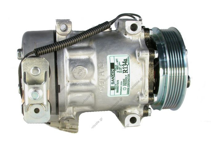 4691-AFT Compressor Jeep Cherokee II KJ (01) Series SD7 / Type SSD7H15   Sanden Manufacturer P/N: 4691 4784 4826 Type: 7H15   GROOVES: 6 Volt: 12 BRAND - DODGE / JEEP MODEL - CHEROKKE / WRANGLER DIAMETER CIRCLE - 125MM NUMBER PK - 6