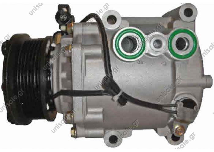 68131 (67131) FORD - MONDEO III (1.8,2.0) COMPRESSOR - FORD SCROLL  TSP0155336 Kompresor A/C Visteon; 94,5mm; PV6; 12V; H(bok); Ford Mondeo