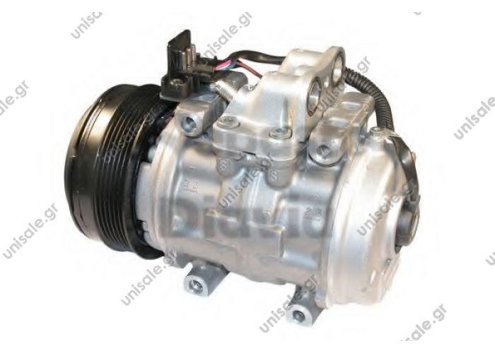 MERCEDES  920.30001  MERCEDES W124 '93-'95    247100-5910 Compressor A / C Denso 10P15C; 120 mm; PV6; 12V; H; Mercedes 190D / E; 200; 230E; 250D; 260s; 300D / E / SE / SEL / TD; DCP17001 0031317001, 0001323800,