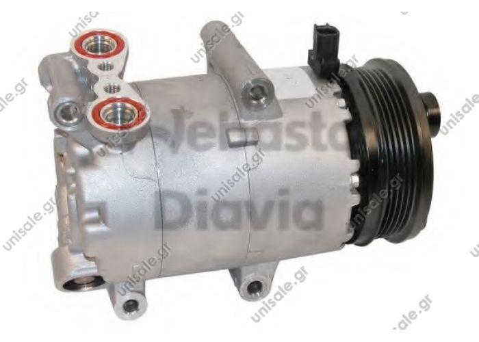 40440121  Συμπιεστής (κομπρέσσορας)     Focus C-Max 1.8 - 2.0  TSP0155444 Compressor A / C Visteon VS; 110 mm; PV5; 12V; IN; Ford Focus; C-Max; Volvo S40; V50   DENSO  DCP10019