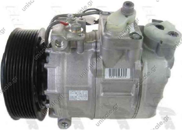 ΚΟΜΠΡΕΣΕΡ A/C  Compressor Denso complete 447190-5530 Compressor A / C Denso 7SBU16C; 126 mm; PV9; 24V; IN; Mercedes Actros; DCP17036      MERCEDES ACTROS MPII OE: 0002343111 - 5412300611 - 5412301211 - A0002343111 - A5412300611 - A5412301211
