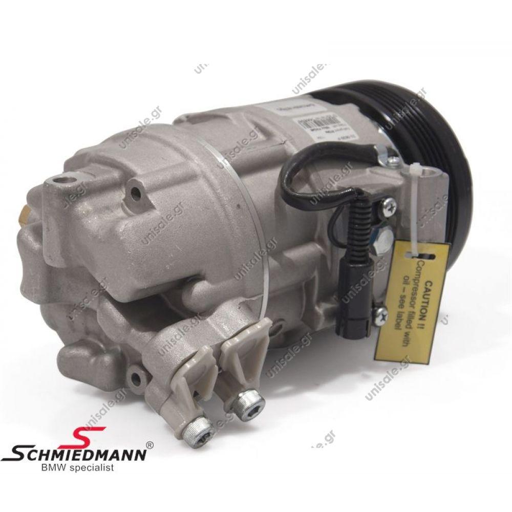 40440139 Bmw Compressor 64 52 6 908 660 64526908660compressornew Kompresor Seri 3 E46 Denso New Calsonic Series 6pv Oe