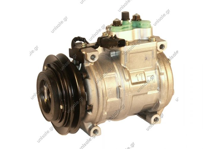 CHRYSLER : 4677143 447100-6600	Compressor A / C Denso 10PA17C; 133.4 mm; A1; 12V; IN; Chrysler Voyager / Grand Chrysler Voyager / Grand 3.0; 96-00; w / o rear A / C OE: 4677143P    CHRYSLER VOYAGER 2.4 3.0 3.3 3.8De 96 à 97 Compressor Denso complete