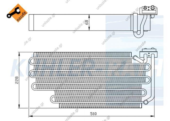20211066   ΕΒΑΠΟΡΕΤΑ A/C SCANIA   144 .Serie 4 1323821 / 1779202 Scania evaporator (1323821 1779202)  FactoryNumber DT1.22741 NISSENS92290 WAECO8881200090 SCANIA1779202 NRF36108 AKS DASIS820267N