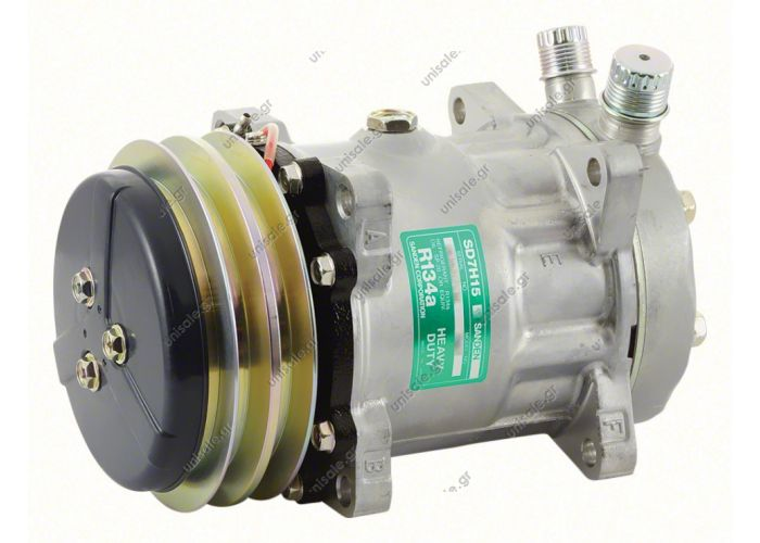8018, 8024  ΣΥΜΠΙΕΣΤΗΣ SANDEN SD7H15 132A2 12V V-OR  COMPRESSOR,SANDEN,7867-7H15 12V 132mm 2-A, R134a VERT O-RING STEEL ARMATURE, DUST COVER