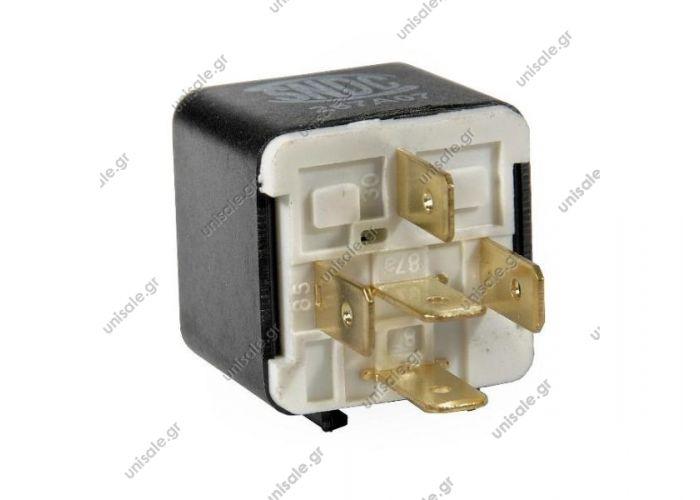 0332209151   ΡΕΛΕ 12V ΔΙΠΛΟ 87/87Α 5ΦΙΣ New Mini Relay 0332204151  Ρελέ 5 Επαφών 12 Volt - 20/30Amp (87/87α)   V23234A0001Y037 Bosch 0-332-209-151