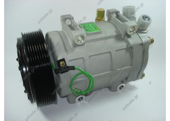 40435076  COMPRESSOR,UNICLA  UX-200 24V 8PK    Ø 135mm COMPRESSOR,UNICLA UX200 9826, 24V 135mm 8PV R134a HORIZ O-RING