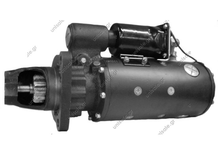 MIZA CATERPILLAR, FIAT-ALIS 11Δ 50ΜΤ  Starter - Delco style 50MT 24 volt, 11 tooth Direct Drive, CW rotation   Name:RS2001(50MT) Model: RS2001 Detailed: 24V 50MT 11T BOSCH-SERNICE:0986015680 LESTER:4600 4927 4930 WOOD AUTO:STR20012