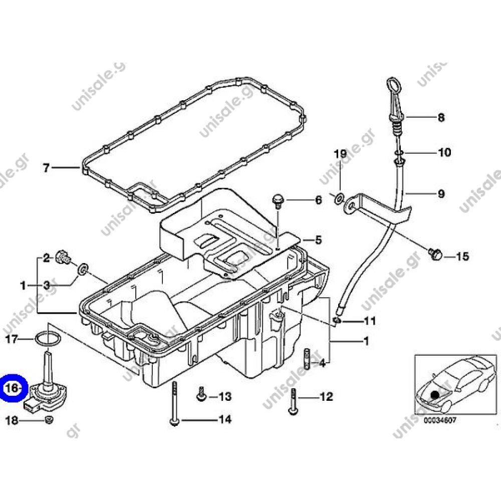 6PR 007868-031 Oil Level Sensor BMW E81 E87 E82 E88 E36 E46 E90 E91 E92