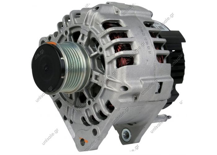 100-122 ΑΛΤΕΝΕΙΤΟΡ BOSCH 12V 90Α VAG DSL   Voltage / Power:	12V 90 Amp  Clutch Pulley PV6 x 55.7 	Audi / VW / Seat / Skoda Frame Number:	FR65 Replacing 0124325001 Lucas LRB474 LRB473 Hella CA1446 CA1502 Audi-Ford-Skoda-VW