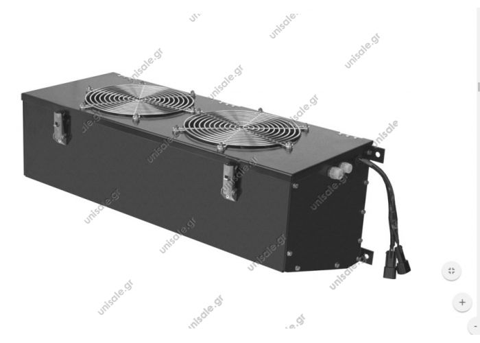 KW 47 CONDENSER KW 47 - 12 V cod.30301017 KW 47 - 24 V cod.30301018 Electric Absorption: 6,5 A Voltage: 24 V Weight: 21 Kg Air flow: 1600 m3/h  Electroventilated condenser (two pulling fans). Wall mounting