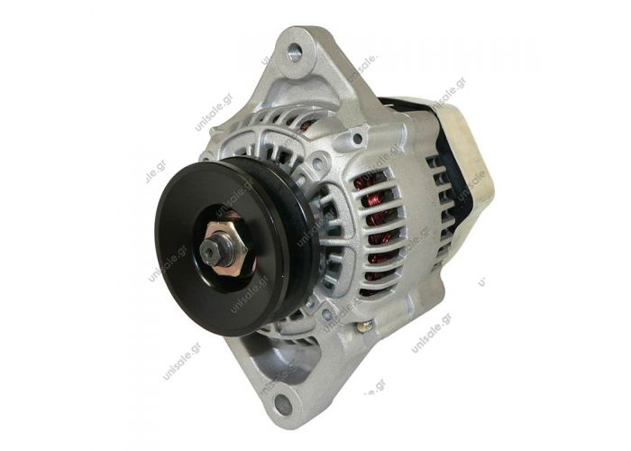 CARGO 12V 40A KUBOTA Alternator - Denso style 12 volt, 45 amps Internal Regulator / Internal Fan 1 groove pulley IG-L  T-shaped plug  1002116880, 100211-6880, 1002116881, 100211-6881, 1677164010, 16771-64010, 1677164012, 16771-64012