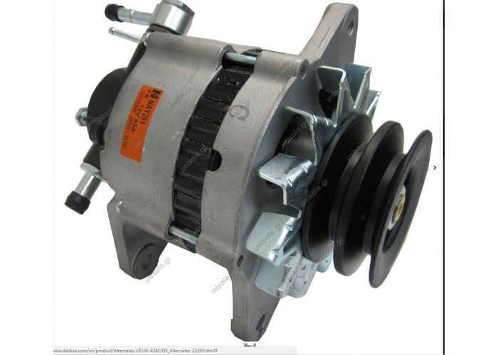 HITACHI  ΔΥΝΑΜΟ 12V  60A  NISSAN D 21 D  LR150-428 Engine: ENGINE TD25/TD27  22295 22296 23100-02N12 23100-02N16 23100-43G04 23100-43G06 23100-43G08 LR150-430 LR150-428E