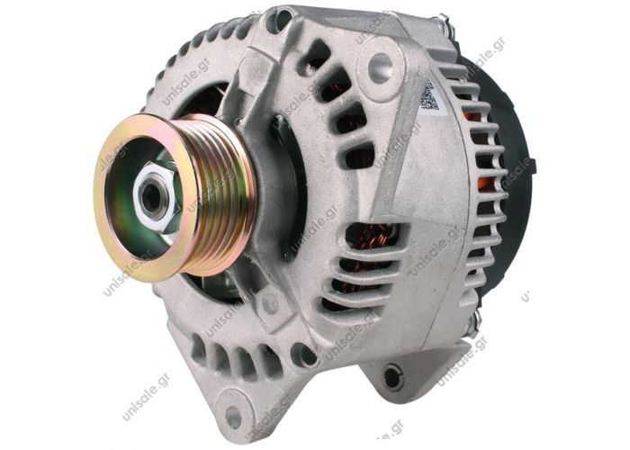 RML REF 100-084 Voltage / Power:	12V 100 Amp Pulley / Drive:	Pulley PV6 x 55 Product Type:	Alternator Product Application:	Ford / Jaguar / Mazda Frame Number:	FR5 Replacing 63321421 Lucas LRB286 Hella CA1230 Ford Transit lll 1994-00