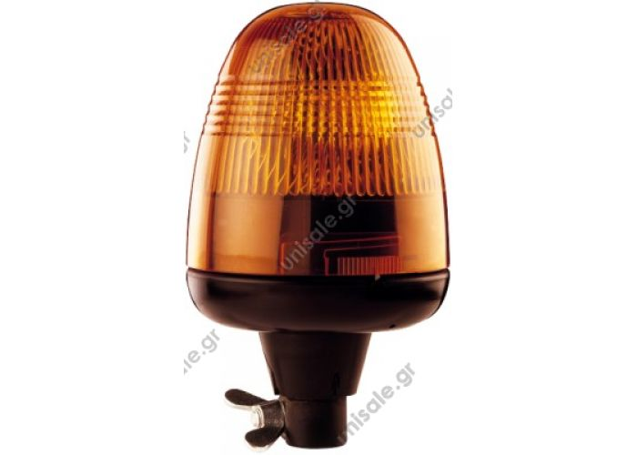 2RL 006 846-011 (24V)  2RL 006846-011 24v Hella Beacon Hella beacon Rotaflex push model  orange 24v  flexible foot and unbreakable glass lamp