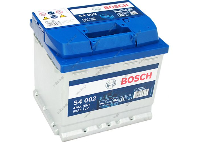 0092S40020   BOSCH ΜΠΑΤΑΡΙΑ S4 BLUE LINE (52Ah/470A) ΔΕΞ. 207x175x190     0 092 S40 020 ΜΠΑΤΑΡΙΑ S4 52Αh/470A ΔΕΞ. Κωδικός Προϊόντος : 0092S40020 ΜΠΑΤΑΡΙΑ S4 52Αh/470A ΔΕΞΙΟ