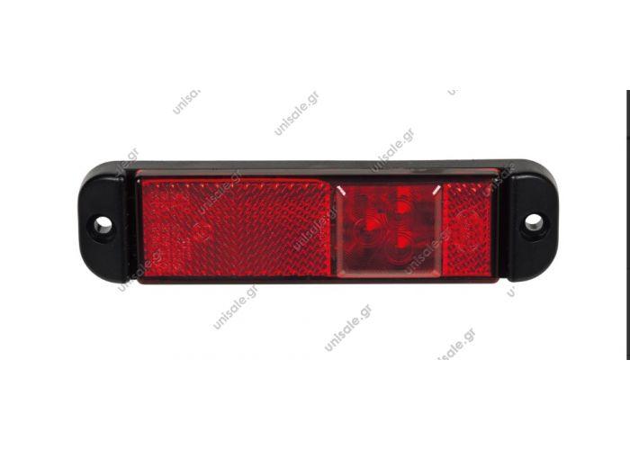 550-0.06 ΟΠΙΣΘΙΟΣ LED ΦΑΝΟΣ ΟΓΚΟΥ 9-33V 550-0.06  Description: REF. NO. 550-0.06 Οπίσθιος φανός όγκου με αντανακλαστήρα 3 LEDs 9-33V (με καλώδιο 1m) Κόκκινος