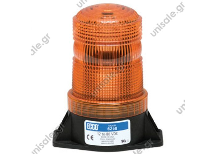 6260R Products > Beacons > Strobe Beacons > 6200 Series ECCO 12-80 Volt Single Flash LED Strobe (6260 Series)