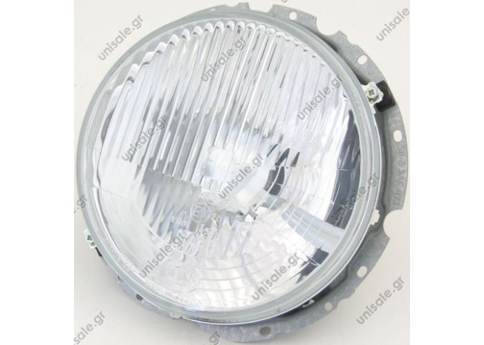 0018203261  MERCEDES ΦΑΝΑΡΙ ΕΜΠΡΟΣΘΙΟ  Headlamp Assembly - W460  Headlamp assembly with new bucket and silicon boot.  An Osram H4 bulb 60/55W bulb is included.  For use on all W460 G-Wagens from chassis number 26461 to 66928.  Original Mercedes-Benz part.