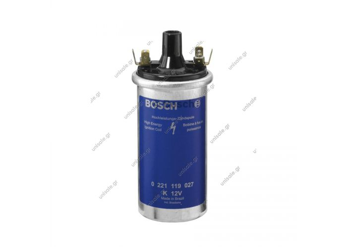 BOSCH 0 221 119 027  ΠΟΛΛΑΠΛΑΣΙΑΣΤΗΣ  Ignition Coil - Bosch 0221119027 Bosch OEM Ignition Coil # 0221119027 / 00012 - VW / Volkswagen # 043905115C - Fits: Volkswagen, BMW, Porsche, Volvo - NEW 12V Coil: Automotive