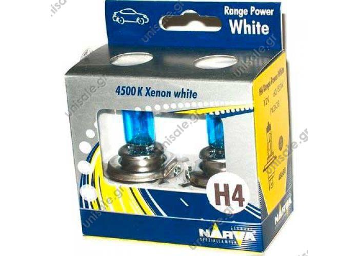 48680 – NARVA Σετ Λάμπες 12V Range Power White H4 60/55W P43 (Σετ των 2) 48680 - NARVA