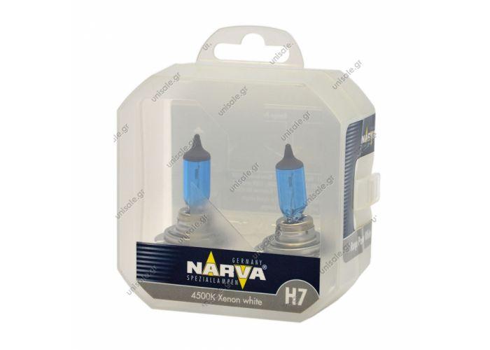 48607 – NARVA Σετ Λάμπες 12V Range Power White H7 55W (Σετ των 2) 48607 – NARVA